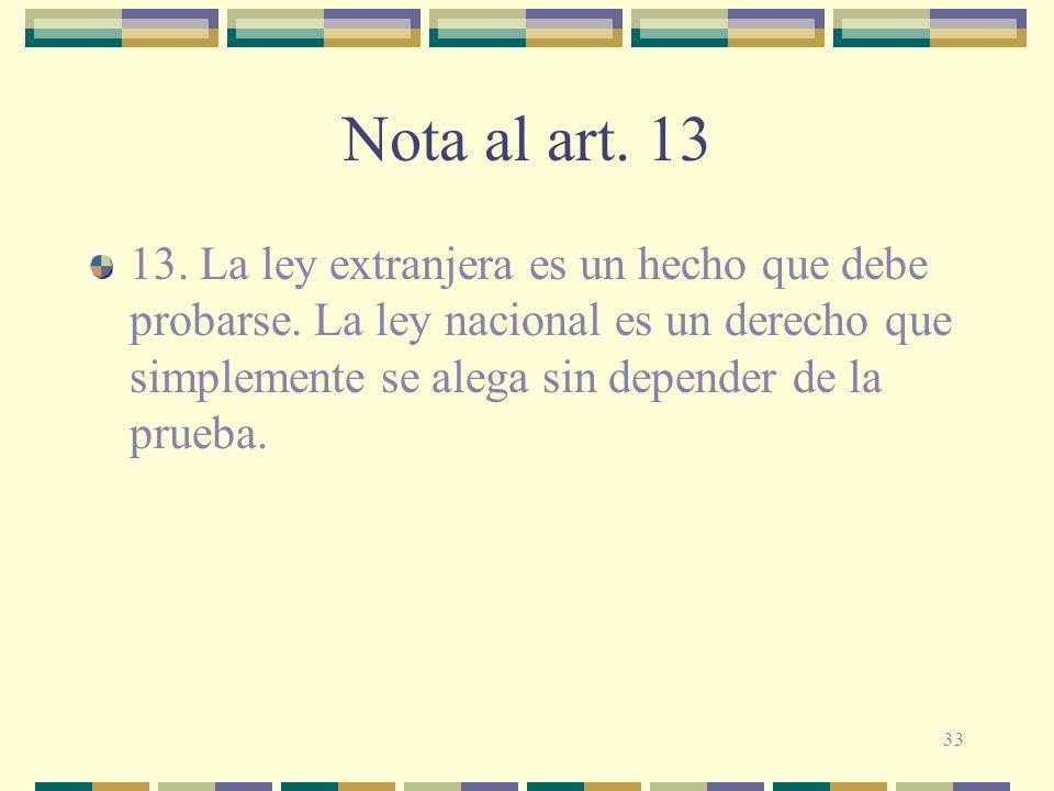 Nota al art. 13