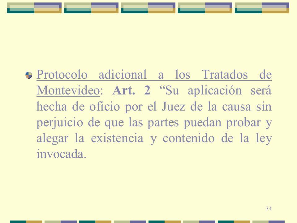 Protocolo adicional a los Tratados de Montevideo: Art