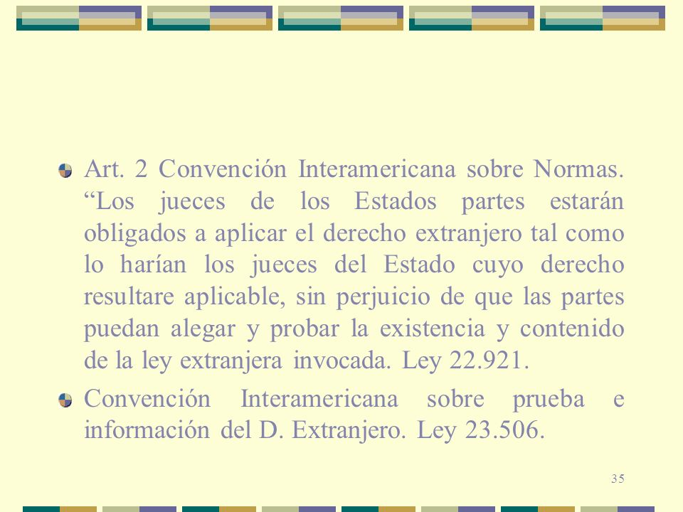Art. 2 Convención Interamericana sobre Normas