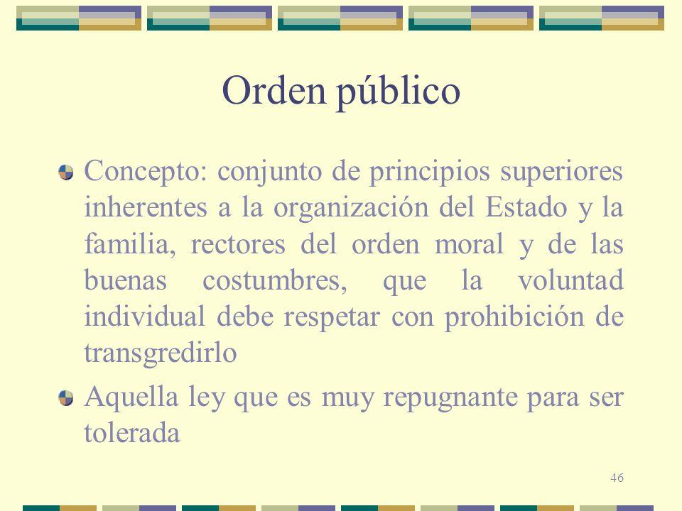 Orden público