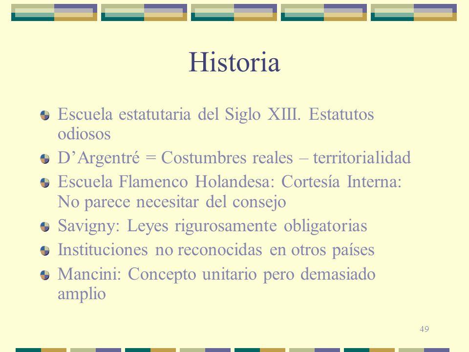 Historia Escuela estatutaria del Siglo XIII. Estatutos odiosos