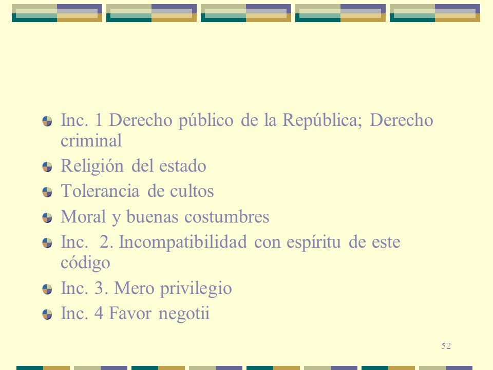 Inc. 1 Derecho público de la República; Derecho criminal