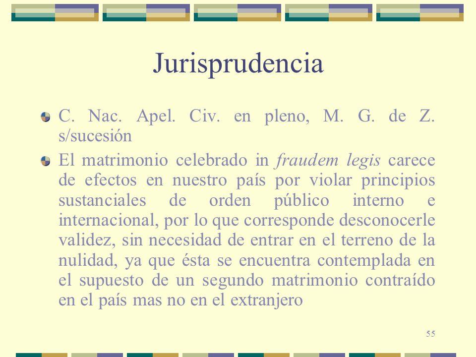 Jurisprudencia C. Nac. Apel. Civ. en pleno, M. G. de Z. s/sucesión