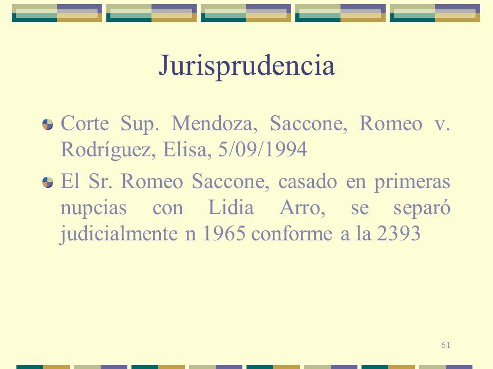 Jurisprudencia Corte Sup. Mendoza, Saccone, Romeo v. Rodríguez, Elisa, 5/09/1994.