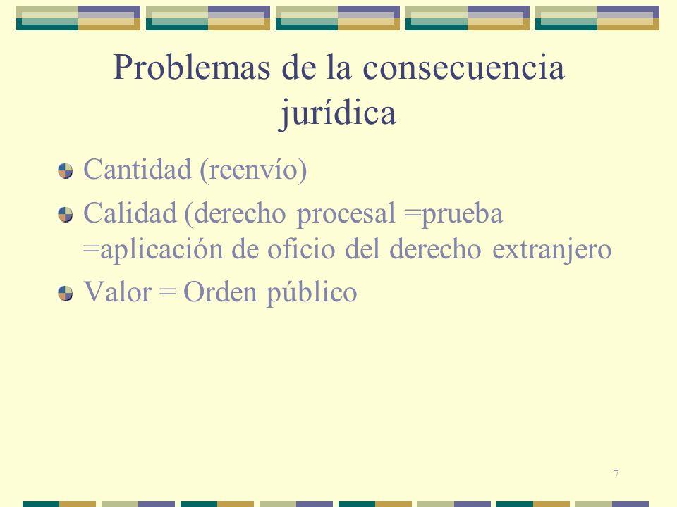 Problemas de la consecuencia jurídica