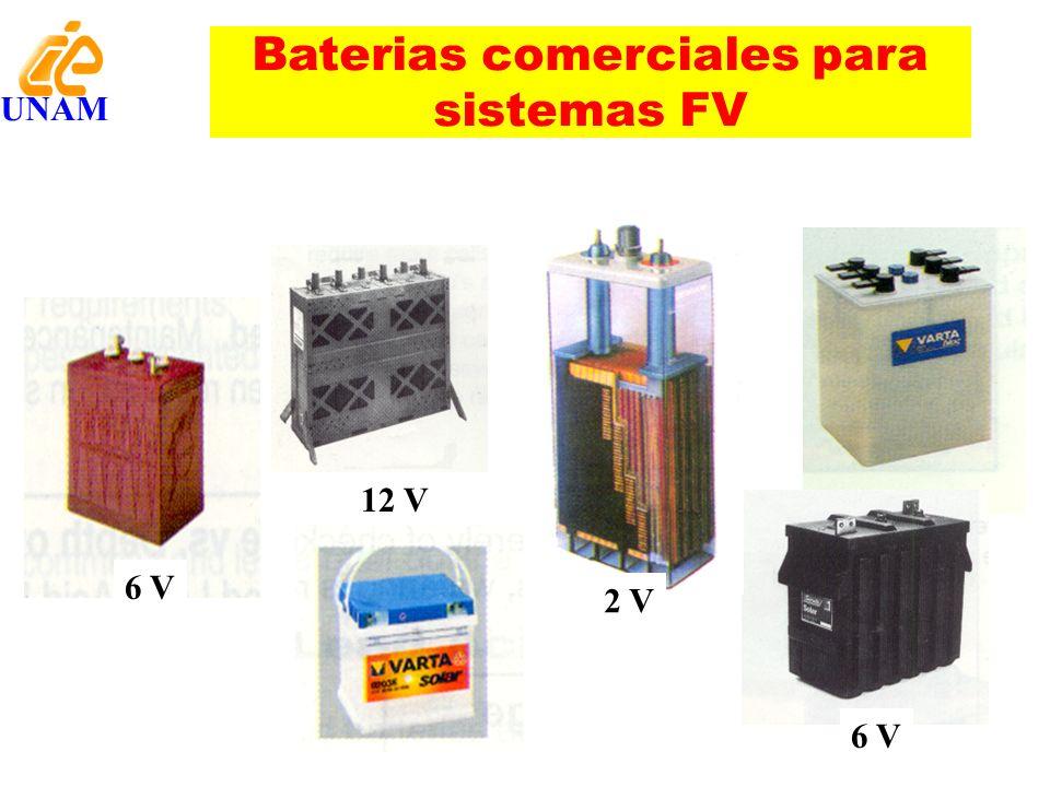 Baterias comerciales para sistemas FV