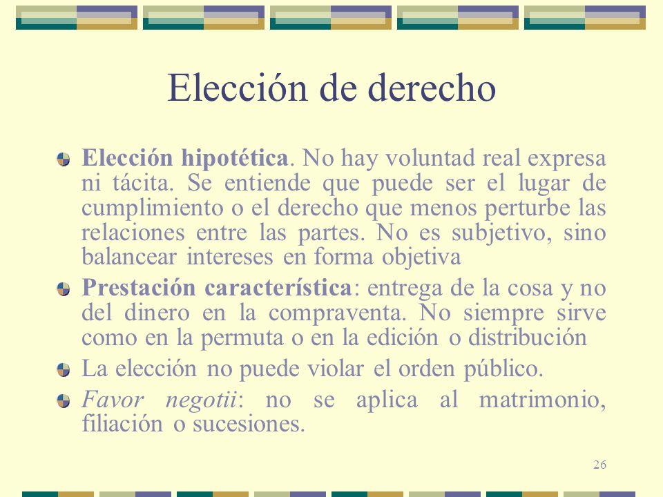 Elección de derecho