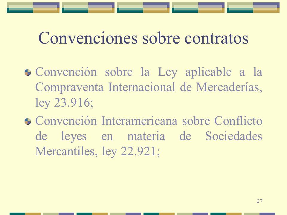 Convenciones sobre contratos