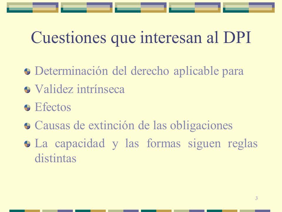 Cuestiones que interesan al DPI