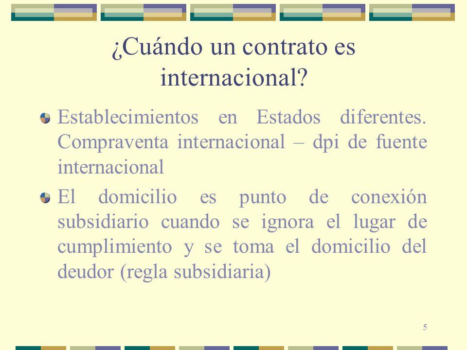 ¿Cuándo un contrato es internacional