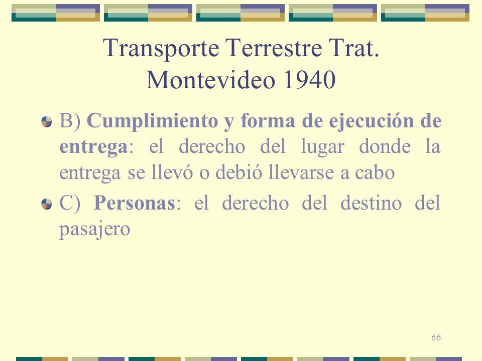 Transporte Terrestre Trat. Montevideo 1940