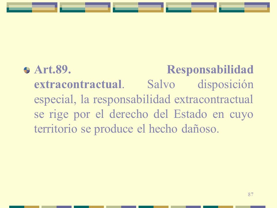 Art. 89. Responsabilidad extracontractual
