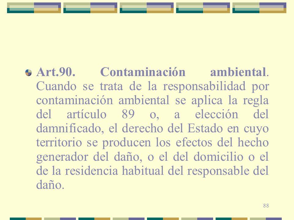 Art. 90. Contaminación ambiental