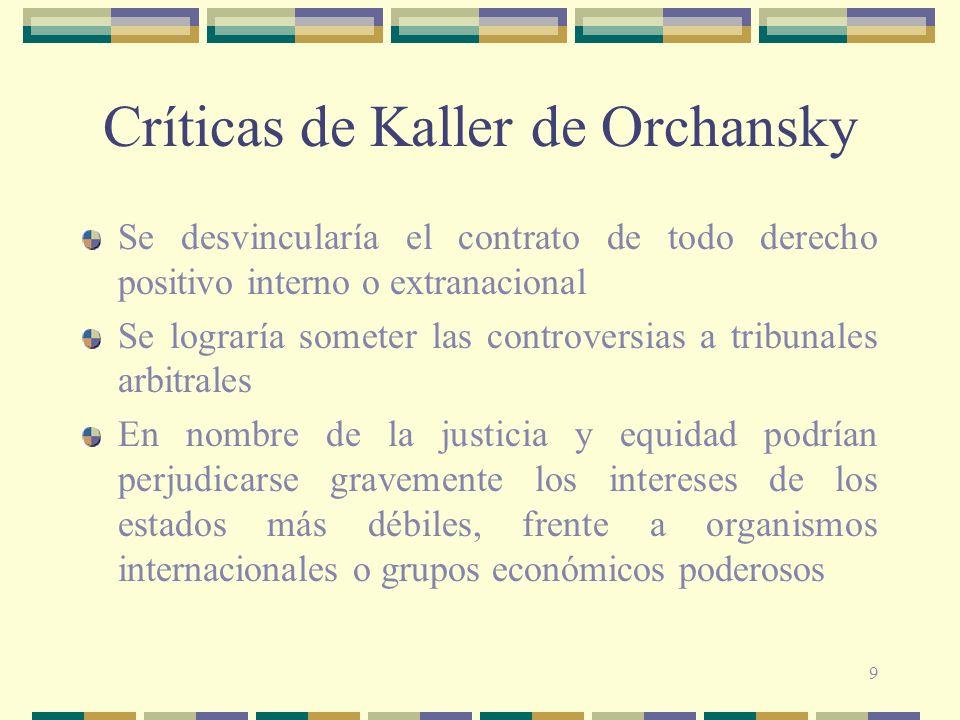 Críticas de Kaller de Orchansky
