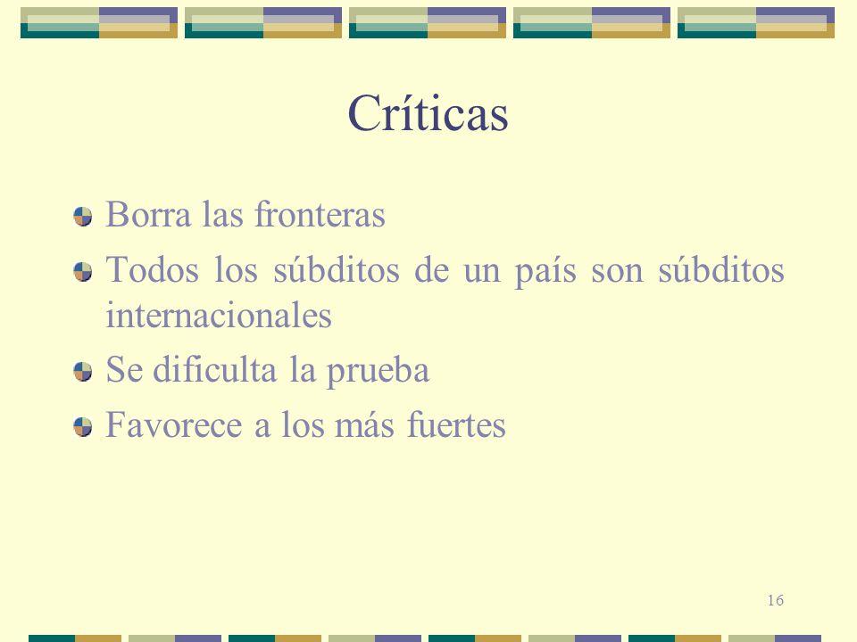Críticas Borra las fronteras