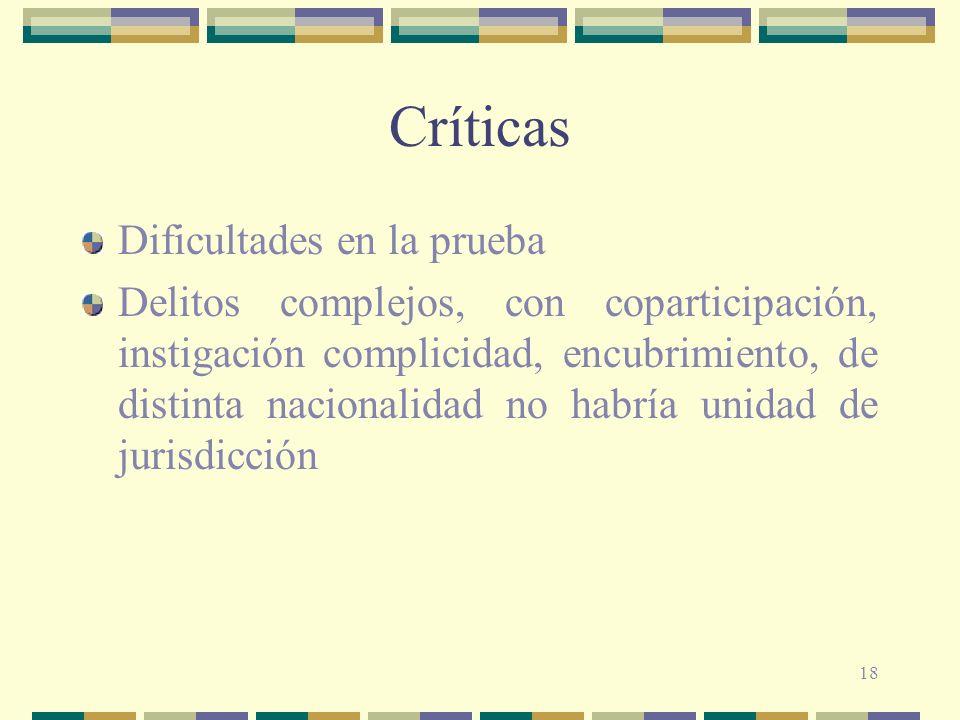 Críticas Dificultades en la prueba