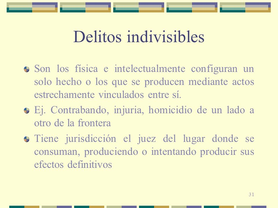 Delitos indivisibles