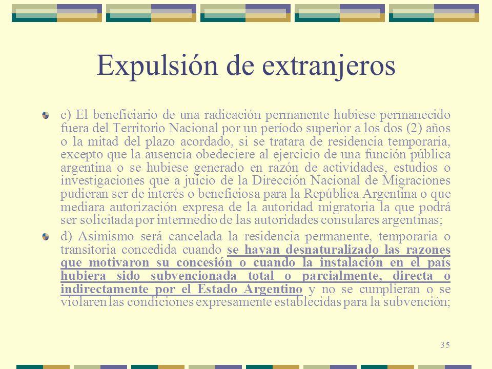 Expulsión de extranjeros