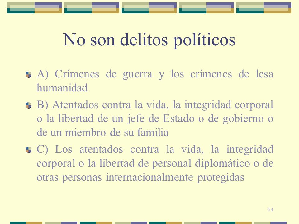 No son delitos políticos