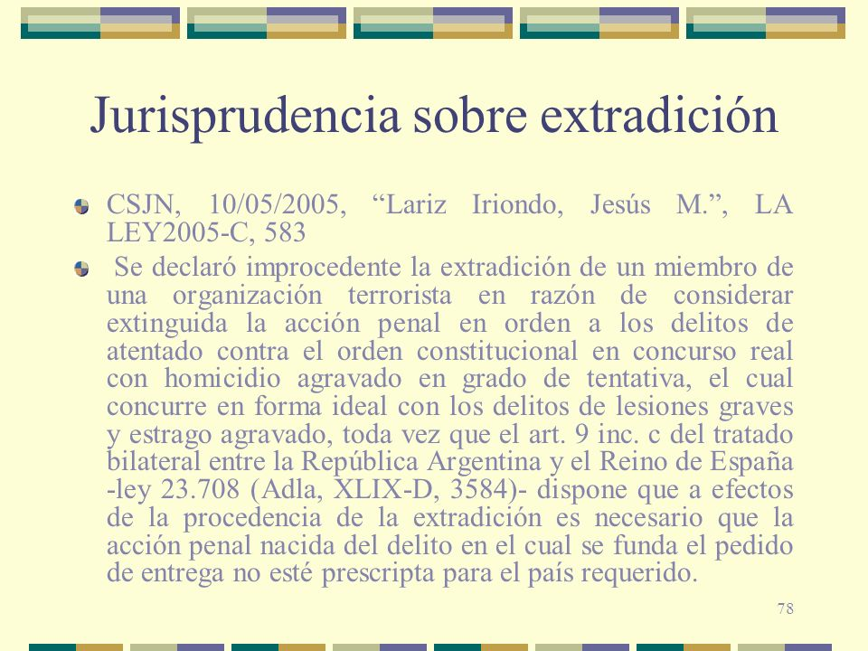 Jurisprudencia sobre extradición