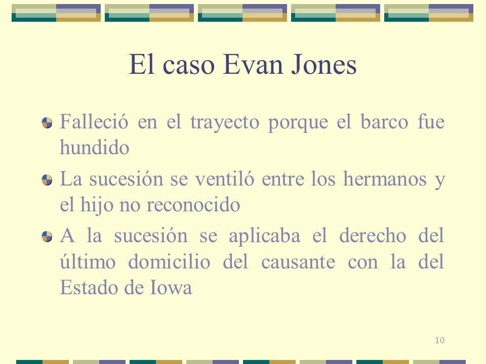El caso Evan Jones Falleció en el trayecto porque el barco fue hundido