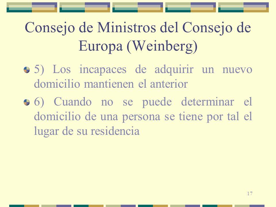 Consejo de Ministros del Consejo de Europa (Weinberg)