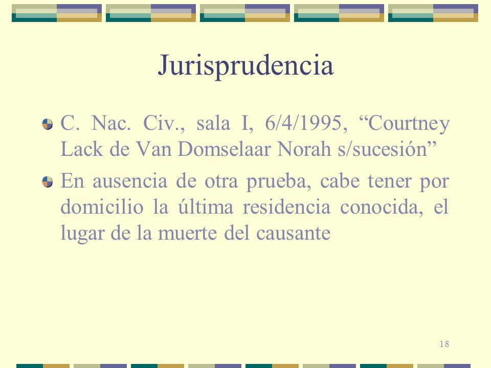 Jurisprudencia C. Nac. Civ., sala I, 6/4/1995, Courtney Lack de Van Domselaar Norah s/sucesión