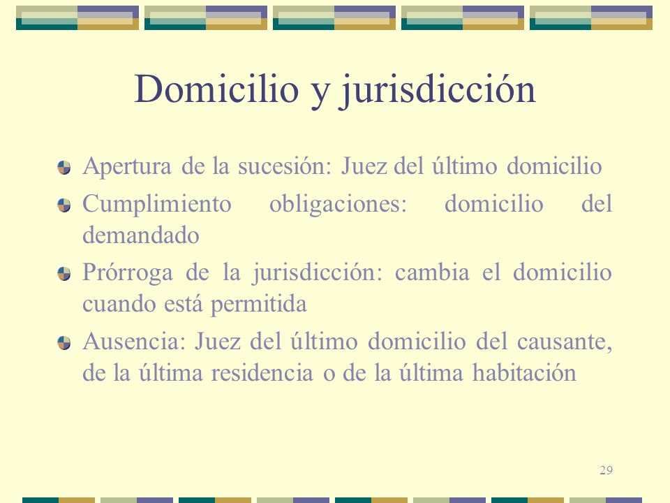 Domicilio y jurisdicción