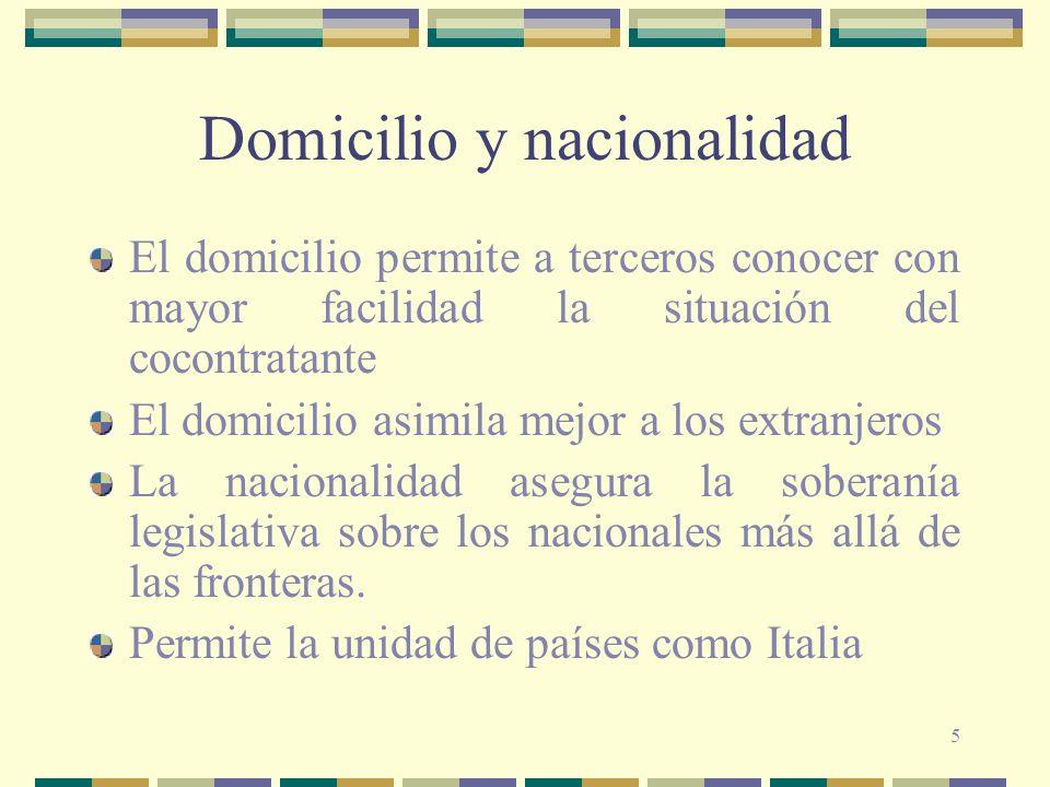 Domicilio y nacionalidad