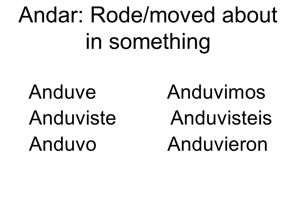 Andar: Rode/moved about in something
