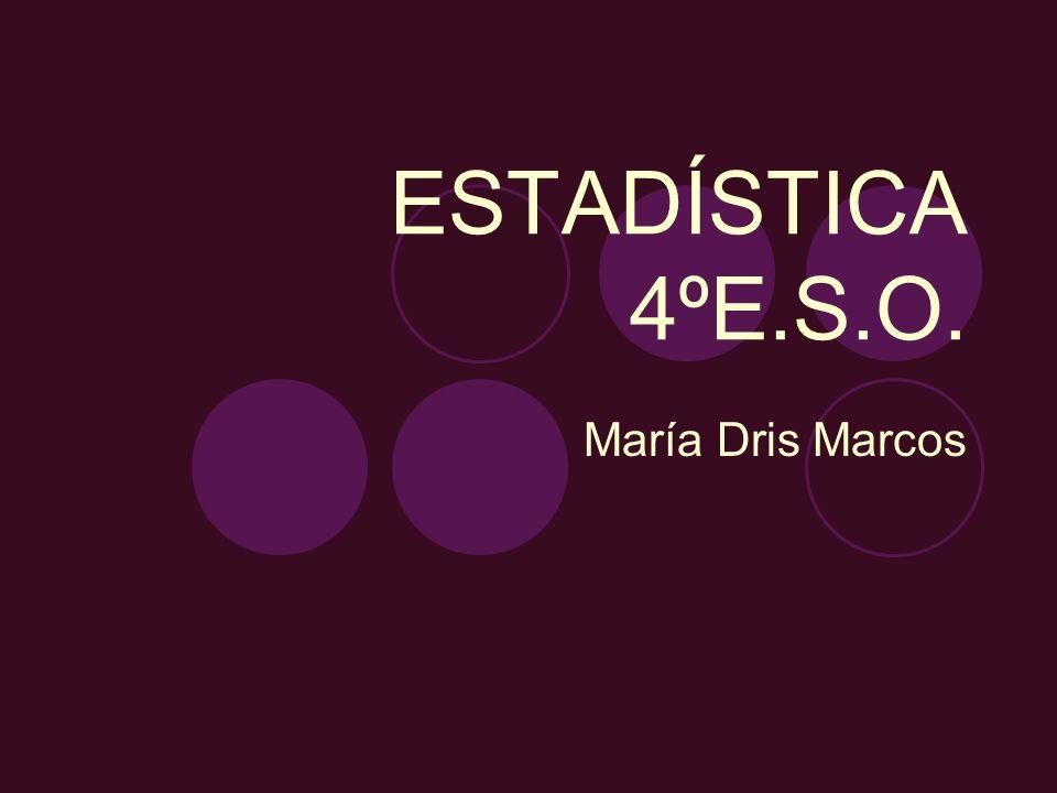 ESTADÍSTICA 4ºE.S.O. María Dris Marcos