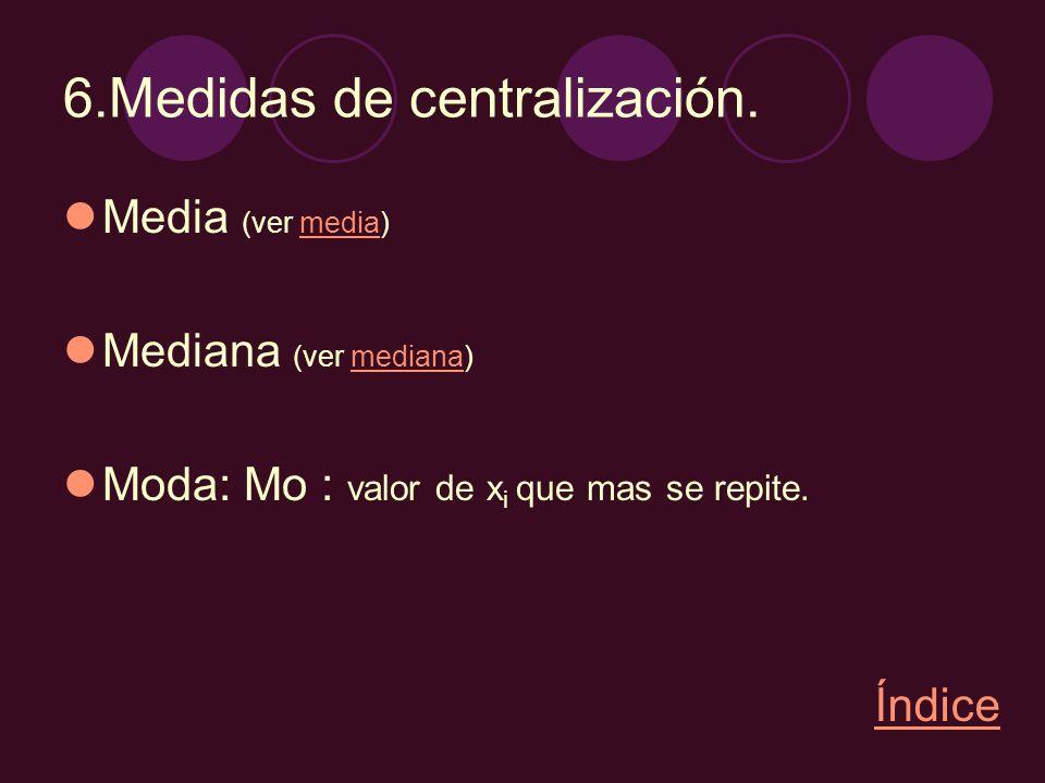 6.Medidas de centralización.