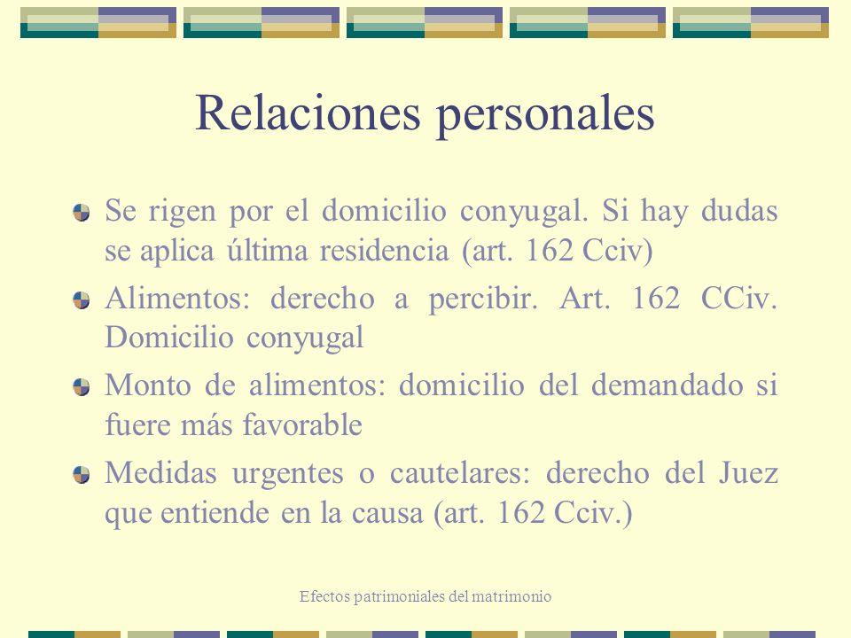 Relaciones personales