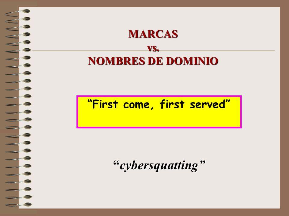 MARCAS vs. NOMBRES DE DOMINIO