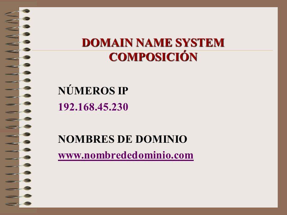 DOMAIN NAME SYSTEM COMPOSICIÓN