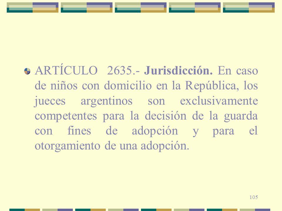 ARTÍCULO 2635. - Jurisdicción