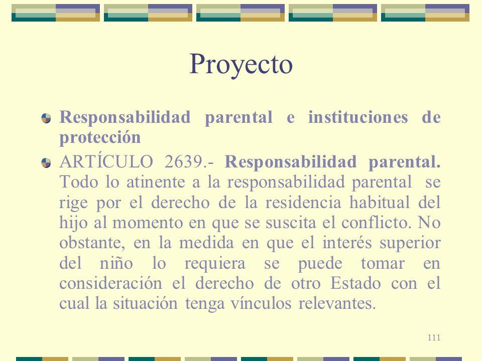 Proyecto Responsabilidad parental e instituciones de protección