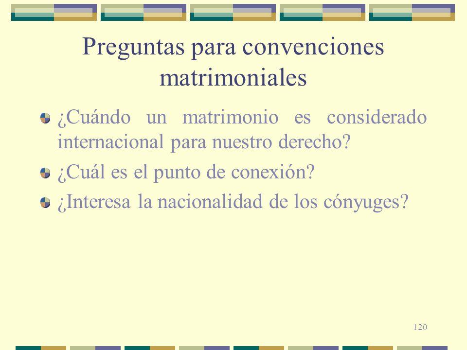 Preguntas para convenciones matrimoniales