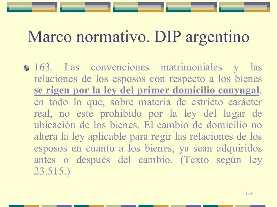 Marco normativo. DIP argentino