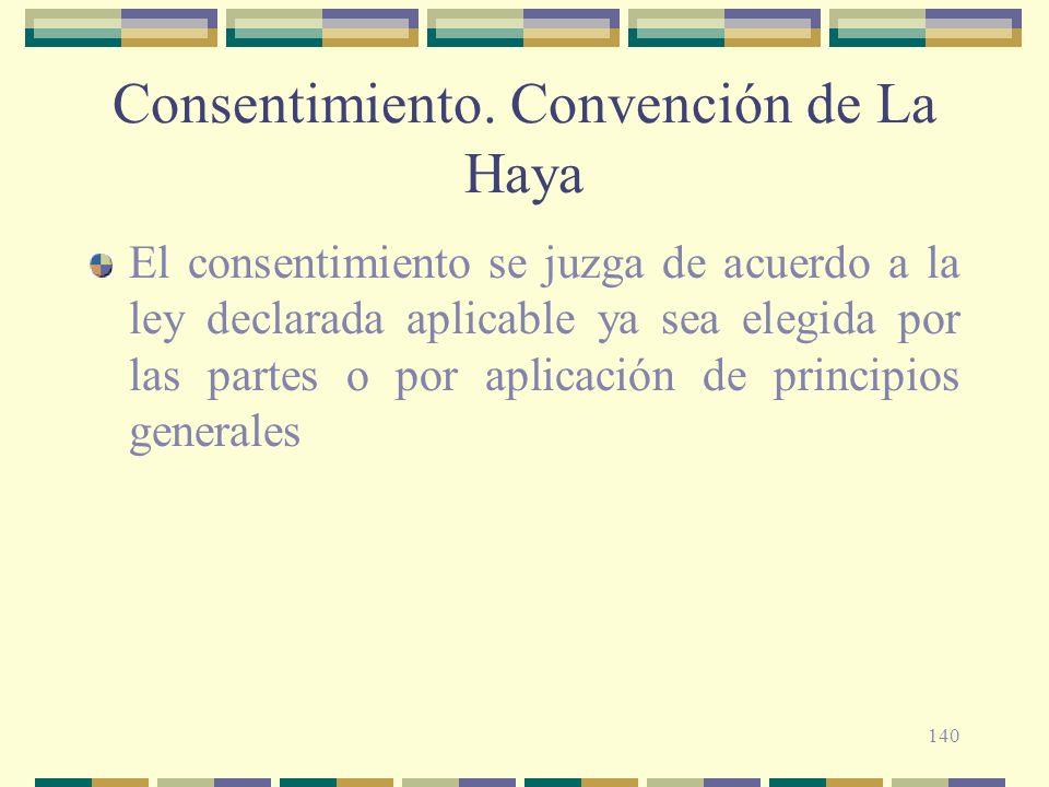 Consentimiento. Convención de La Haya
