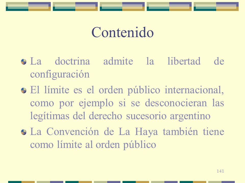 Contenido La doctrina admite la libertad de configuración