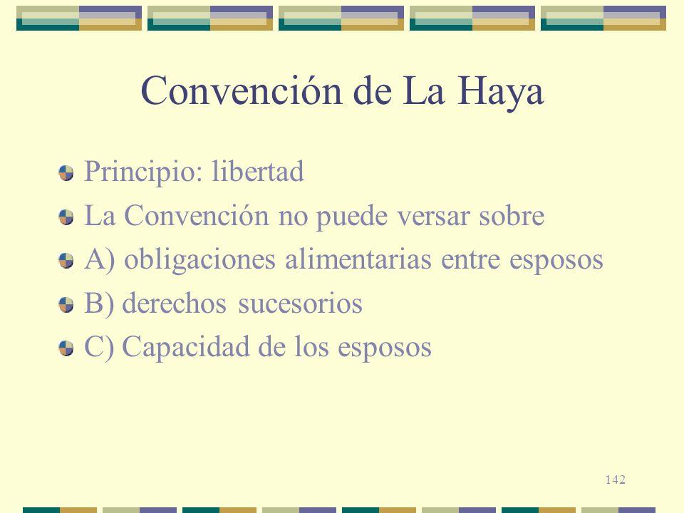 Convención de La Haya Principio: libertad