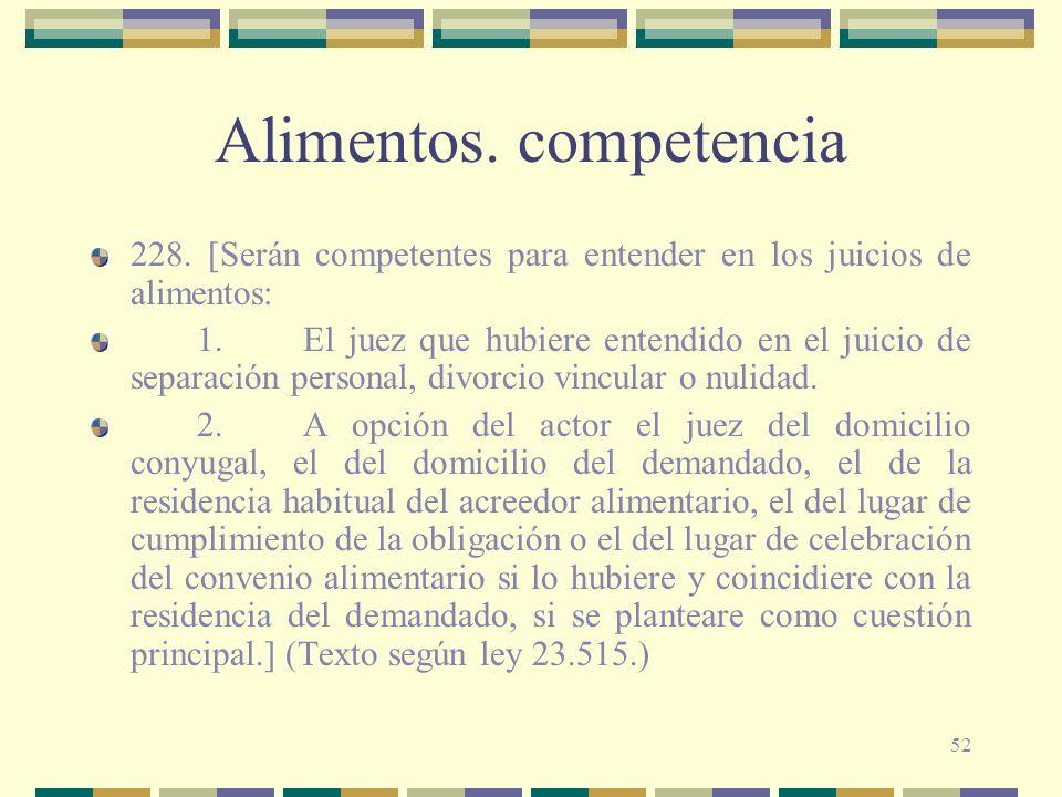 Alimentos. competencia