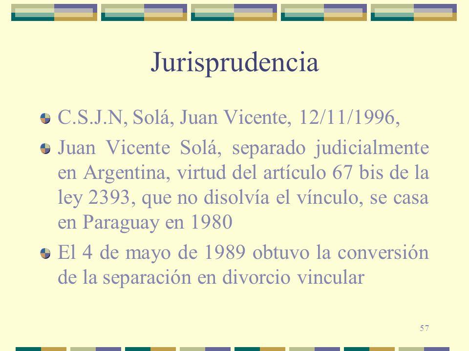 Jurisprudencia C.S.J.N, Solá, Juan Vicente, 12/11/1996,