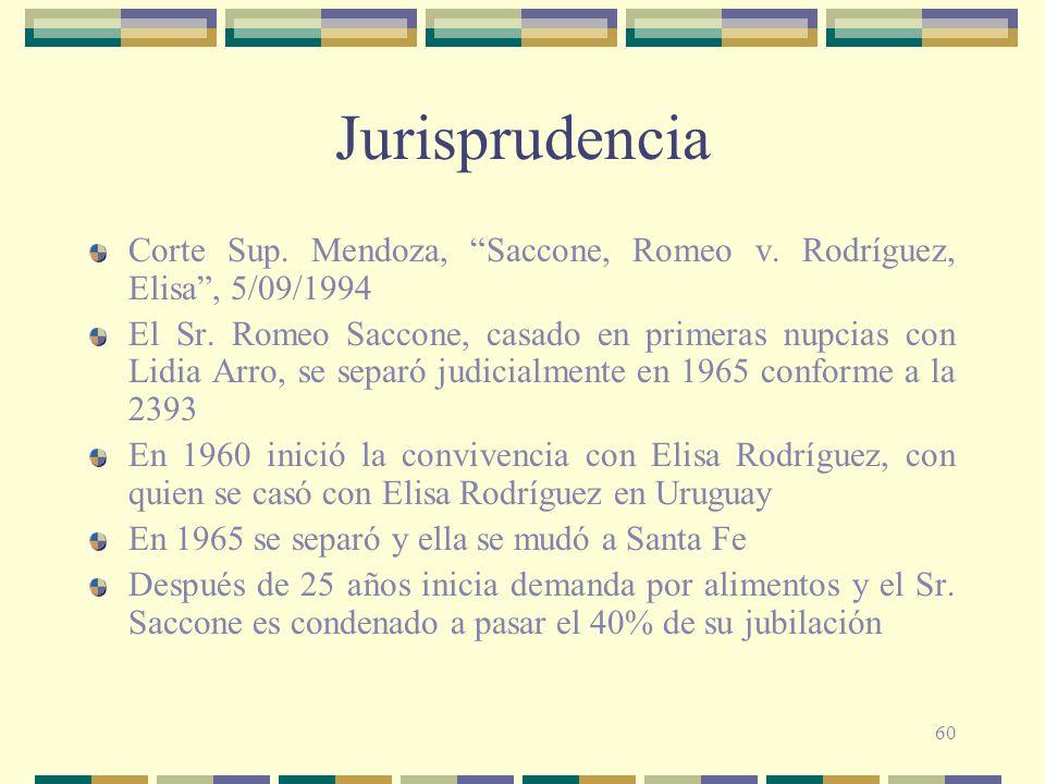Jurisprudencia Corte Sup. Mendoza, Saccone, Romeo v. Rodríguez, Elisa , 5/09/1994.