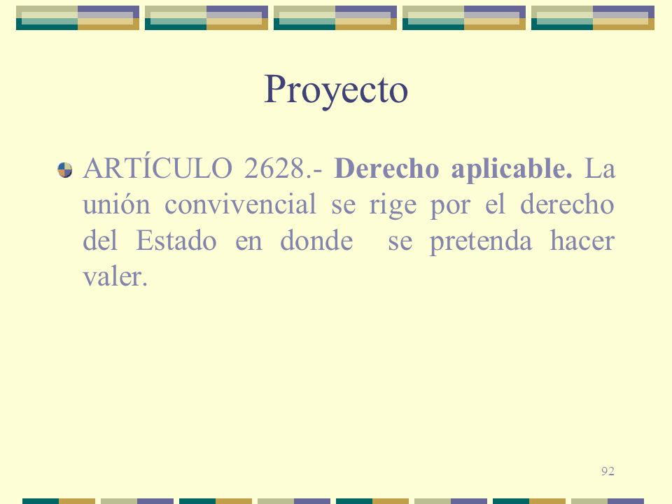 ProyectoARTÍCULO 2628.- Derecho aplicable.