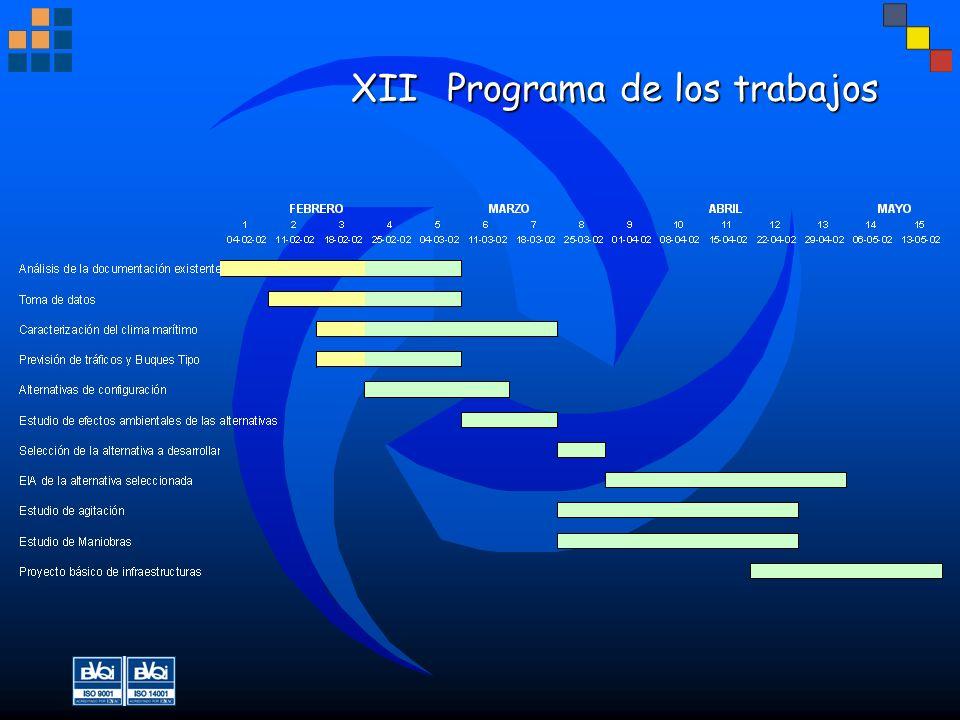 XII Programa de los trabajos