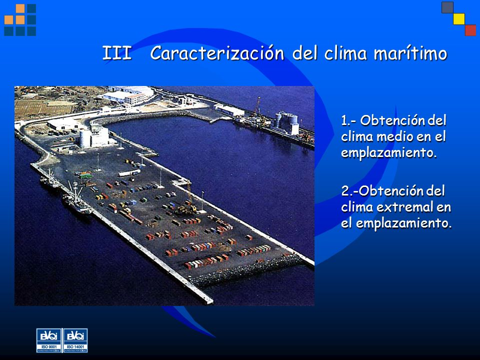 III Caracterización del clima marítimo
