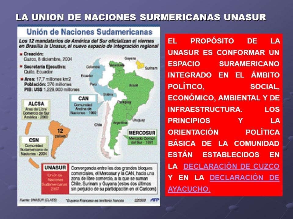 LA UNION DE NACIONES SURMERICANAS UNASUR