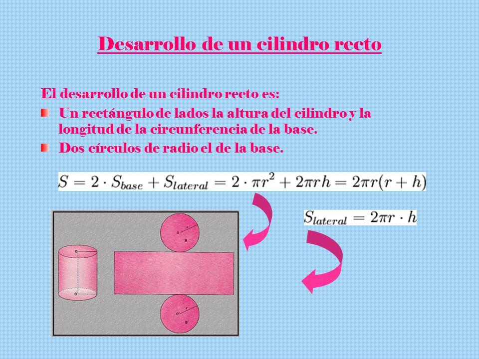 Desarrollo de un cilindro recto
